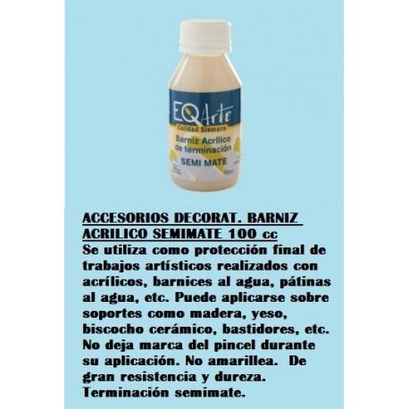 Accesorios Decorat. Barniz Acrilico Semimate 100 Cc.