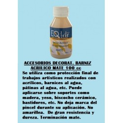 Accesorios Decorat. Barniz Acrilico Mate 100 Cc.