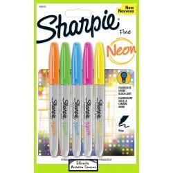 Marcadores Sharpie Neon - Blister X 5