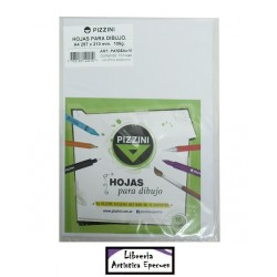 Hojas A4 106 g. para dibujo - Pizzini