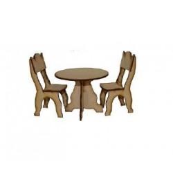 Juego de mesa + 2 sillas.