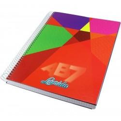 Cuaderno Laprida - ABC espiralado. 100 hojas. Varios colores.
