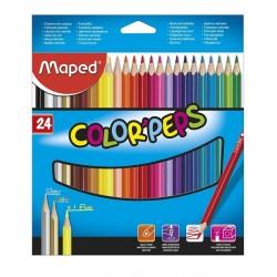 Lapices de color Maped x 24 unidades