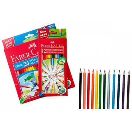 Lapices FaberCastell Acuarelable x 24.