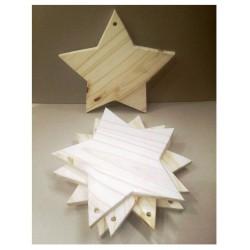 Tabla de madera. Forma Estrella! Realizados en Pino de 2cm. Miden: 30x30 cm Vienen en crudo