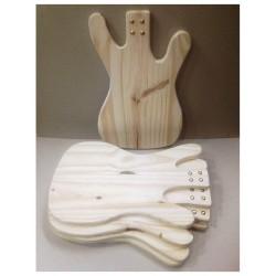 Tabla para picadas. Guitarra! Miden: 25x40 cm. Viene en crudo